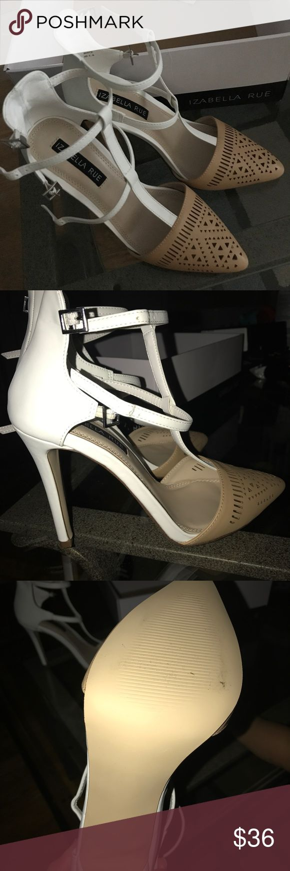 Two tone pumps heels Two tone heels. Cute cut out on the top part of shoes. Very cute but too high for me. Izabella Rue Shoes Heels
