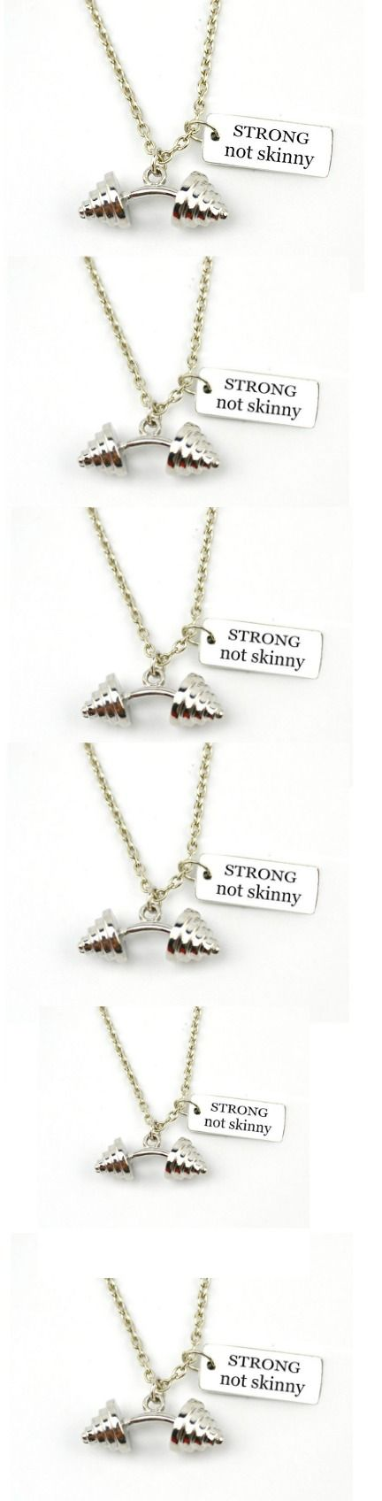 """""""Strong Not Skinny"""" Fitness Weightlifting  Necklace! Click The Image To Buy It Now or Tag Someone You Want To Buy This For. #Weightlifting"""