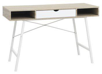 Desk ABBETVED oak/white
