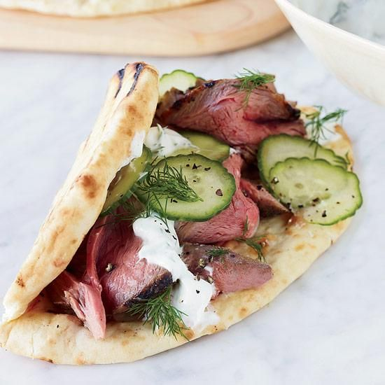 Leg of Lamb Shawarma | Boneless leg of lamb is great on the grill, especially when it's been marinated overnight in a mix of roasted garlic, lemon and spices.