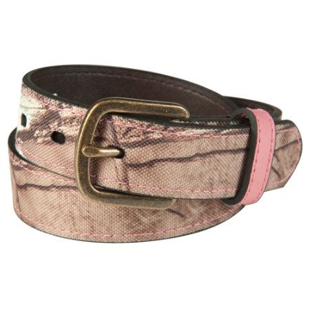 Gander Mountain Womens Realtree AP Camo Belt with Pink Leather Accents - Gander Mountain