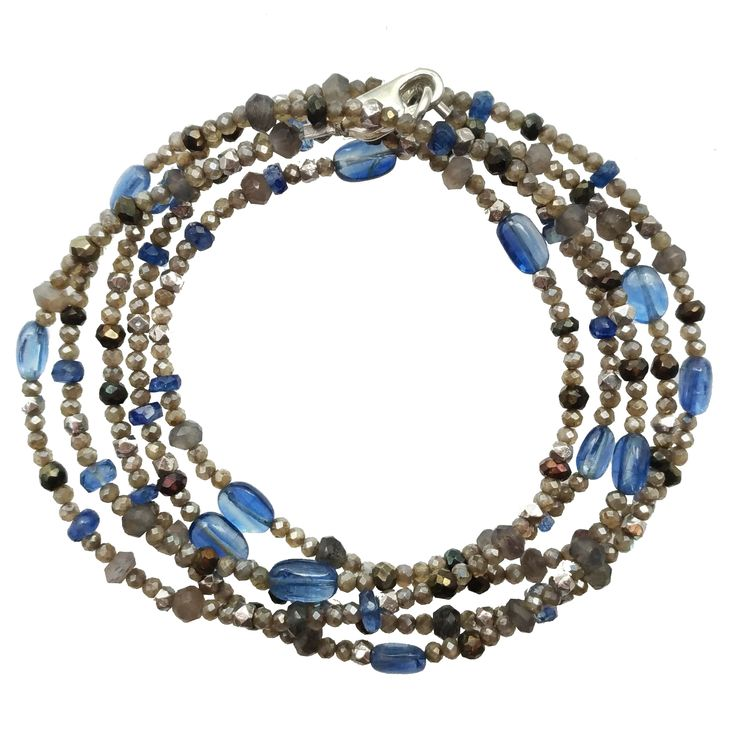 Grey Sapphires, Grey Moonstone, Kyanite and Sterling Silver Convertible!!!