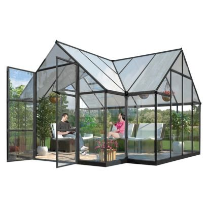 17 best images about all about home outdoors on for Octagonal greenhouse plans