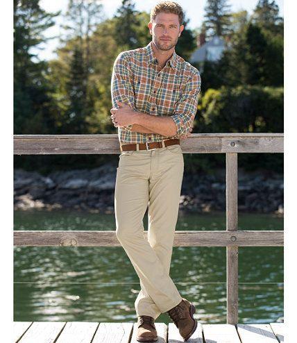 Lakewashed Cotton Five-Pocket Twill Pants: Casual Pants | Free Shipping at L.L.Bean