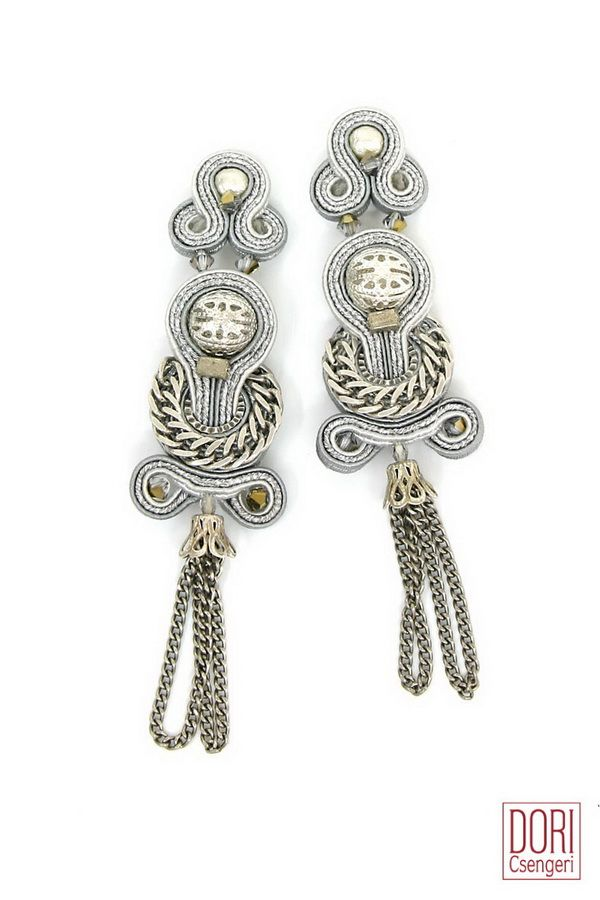 XEN-E057 , xene057 , xene57 , silver earrings , fringe earrings , tassel earrings ,