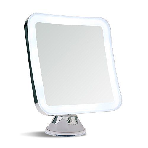 Best Travel LED Lighted Makeup Mirror Ever Made ,Comes in 5X and 7X Magnification! It's Light Weight, Collapsible. Warm and Bright Light to See Every Detail.  With Our Innovative Power Suction Mount, You Can Attach it to Any Mirror or Many Material. It's Large Enough (5.2 inch) to Your Entire Face and it's Small Enough to Pack into Backpack or Suitcase.