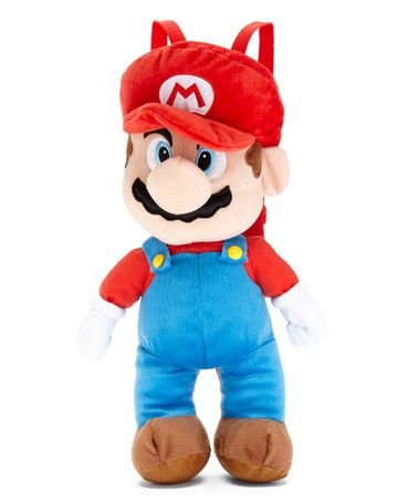 Look what I found on #zulily! Nintendo Super Mario Bros. Mario Plush Backpack #zulilyfinds