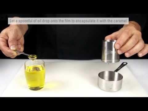 Olive Oil Bonbon - Sugar Encapsulated Olive Oil - Molecular Gastronomy Secrets - YouTube