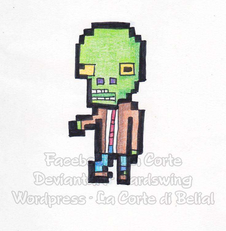 Drawlloween zombie 8bit