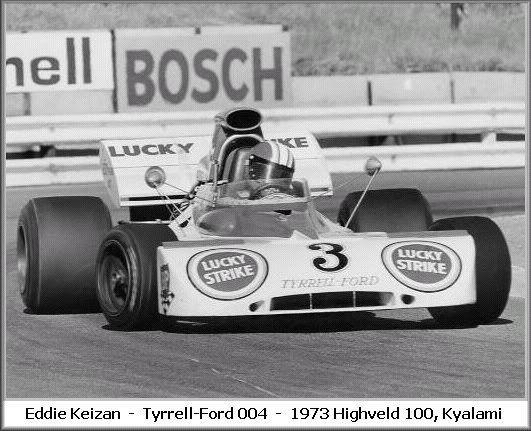 Eddie Keizan obtained the ex Jackie Stewart Tyrrell 004 for the 1973