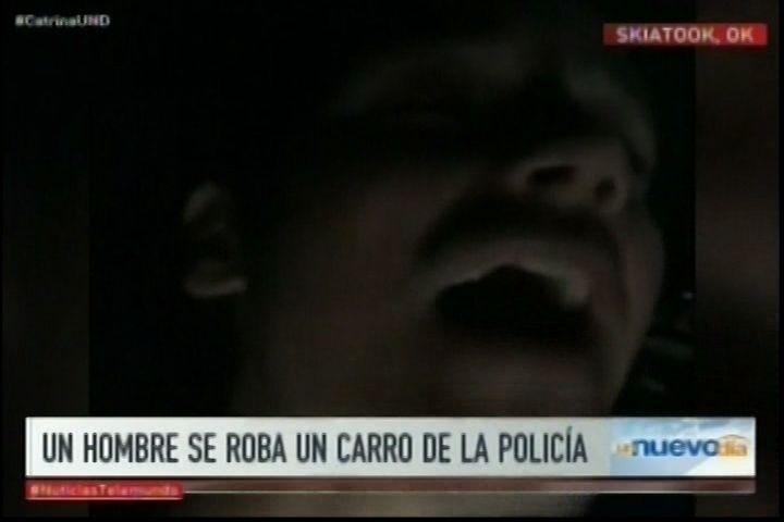 Hombre Roba Auto De La Policía y Transmite Su Persecución Con Facebook Live