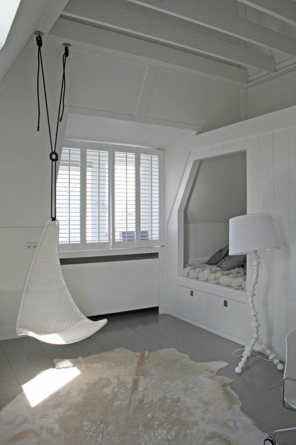 Youth room design ideas white floor lamp modern built-in bed carpet