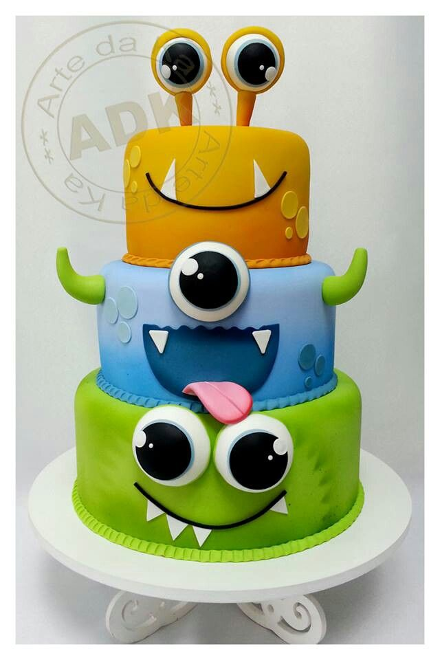 Monster theme birthday cake.