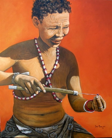 Title - The jeweller  Size - 91cm x 76cm  Medium - Oil on canvas  Available - Imbizo gallery, Ballito