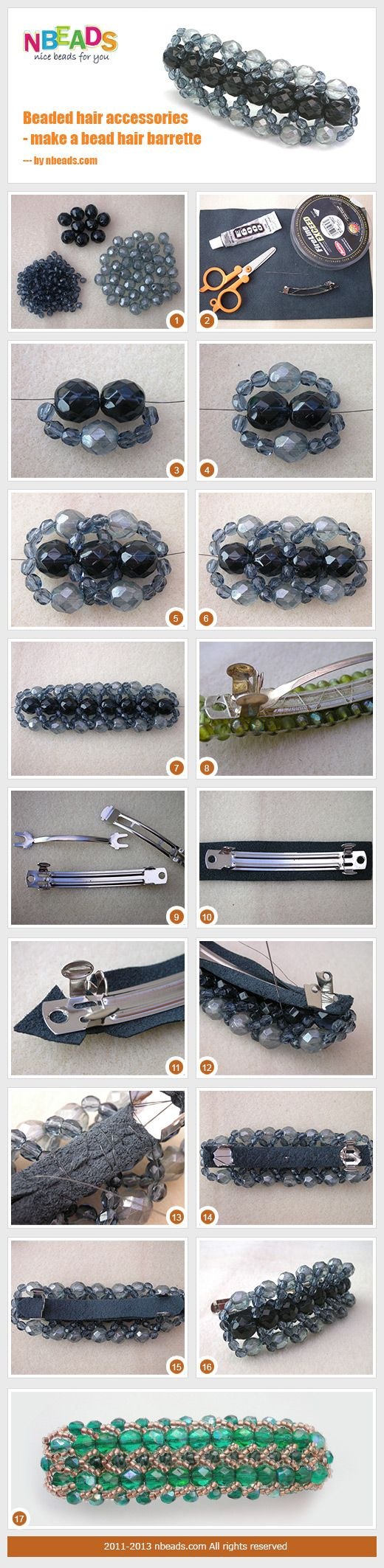 Summary: Here are hair barrettes for women. You can learn to make beaded hair accessories if you follow today's handicraft tutorial. I'll show you exactly what to do to make a chunky barrette. There are two ways to deal with the plain barrette. One is jus