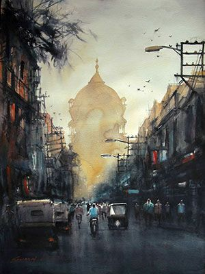 Image result for urban contemporary india in painting