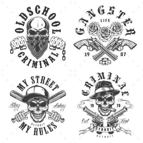 25 Risky And Ascetic Gangster Tattoo Designs 9