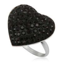 PR4623SWSS - Srdiečko - strieborný prsteň so Swarovski krištálmi