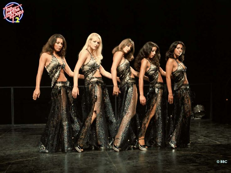 Pans People - Babs Lord, Ruth Pearson, Dee Dee Wilde, Louise Clarke & Cherry Gillespie - brought dance to the masses