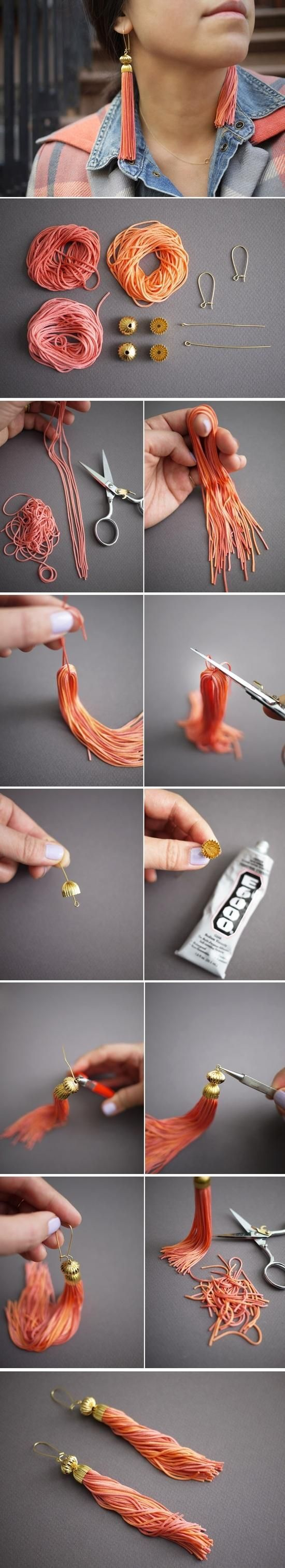 Janet Coumo DIY Tutorial: DIY Earrings Instructions:  Follow step-by-step instructions on indulgy.com Janet Coumo on Apr 6  DIY Earrings Ear...