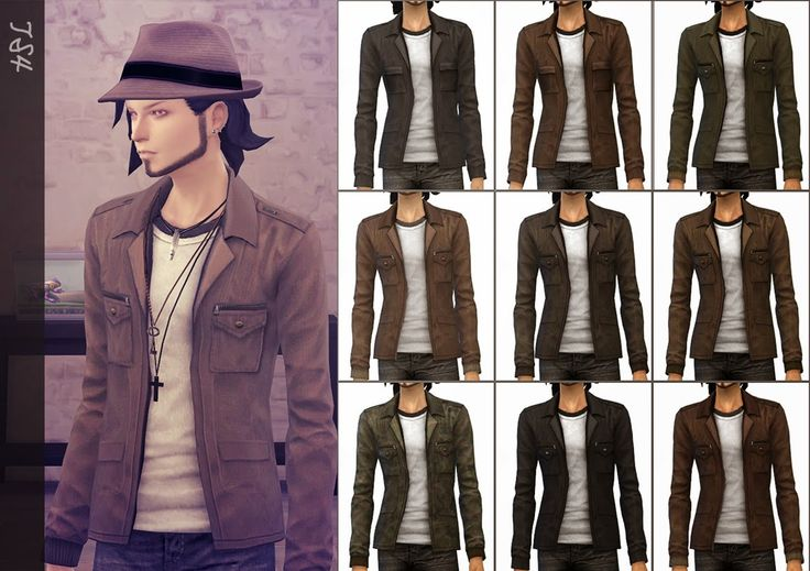 My Sims 4 Blog: Jacket with T-Shirt for Males by Mochi029