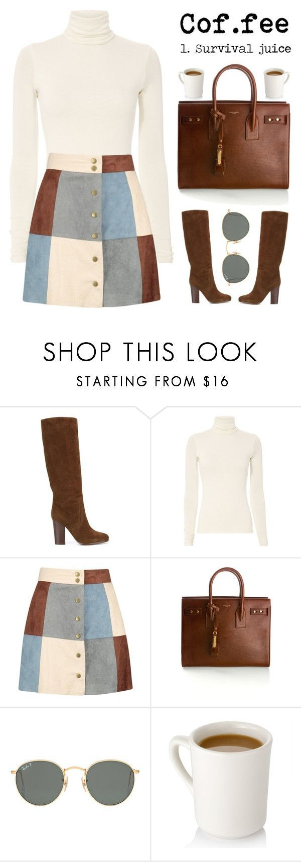 """October 22, 2017"" by madelynn-gv ❤️ liked on Polyvore featuring Ralph Lauren, Boohoo, Yves Saint Laurent and Ray-Ban"
