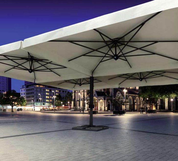 Sonnenschirm SCOLARO Alu Poker 6x6 Stockschirm , Aluminiumschirm Parasol - Für große Flächen geeignet - Somit der ideale Schirm für die Gastronomie