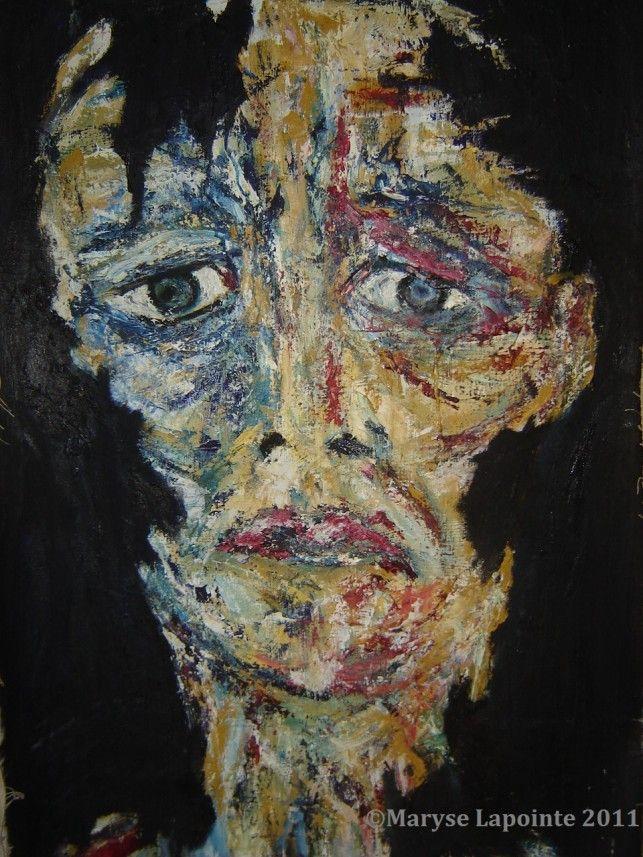 Post Mortem # 9 – 2011 Huile/toile 37 x 26 po. (94 x 66 cm) Collection privée #expressionnisme,