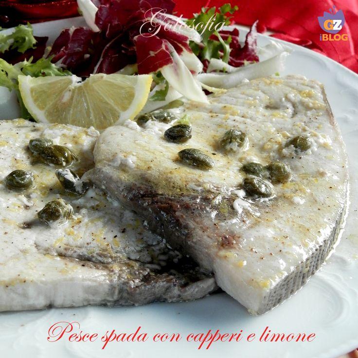 Pesce spada con capperi e limone, un piatto ricco di gusto ma leggero, semplice e veloce da preparare!