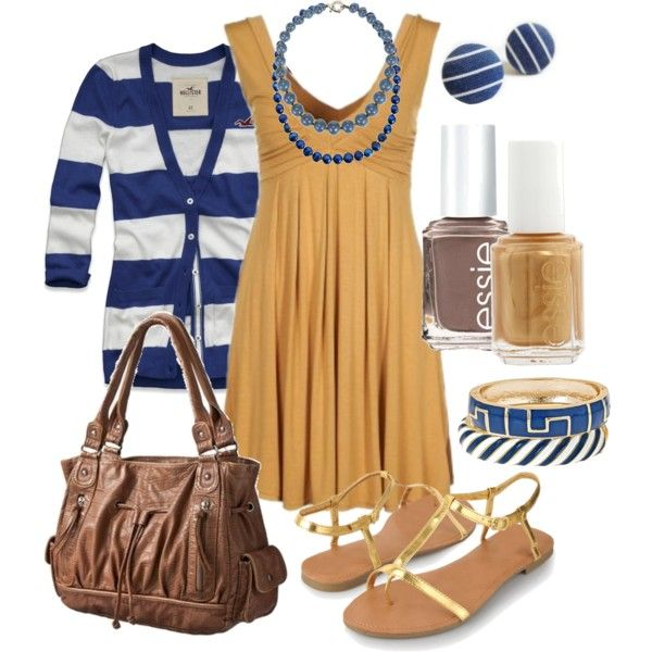 """""""blue & gold"""" by htotheb on Polyvore"""