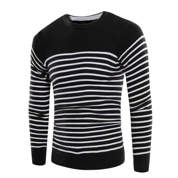 mens knitted sweaters men'spullover sweater for men cotton Slim striped embroidery male plus size christmas winter knitwear