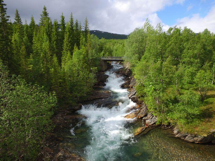 Ei elv fosser ned i Øvre Valnesfjord     http://www.tursiden.no/ei-elv-fosser-ned-i-ovre-valnesfjord/