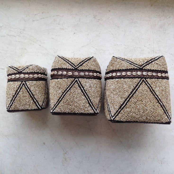 Basket Sokasi Beaded Tribal