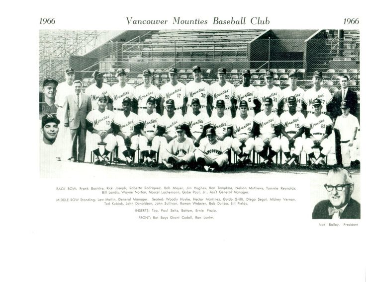 1966 Vancouver Mounties (AAA affiliate of the Kansas City Athletics)