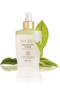 Balancing Toner controls excess shine, refines pores, freshens and clarifies skin with a spritz of this citrus - scented toner.