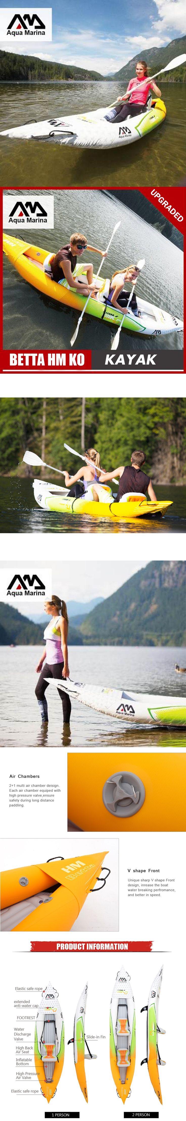 Aqua Marina inflatable boat fishing sport kayak canoe Betta HM pvc dinghy raft aluminium paddle pump seat drop-stitch laminated