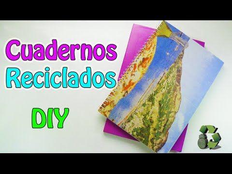 218. DIY Cuadernos reciclados [Encuadernación sin coser] (Reciclaje) Eco...