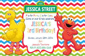 Resultado de imagen para sesame street birthday party invitations