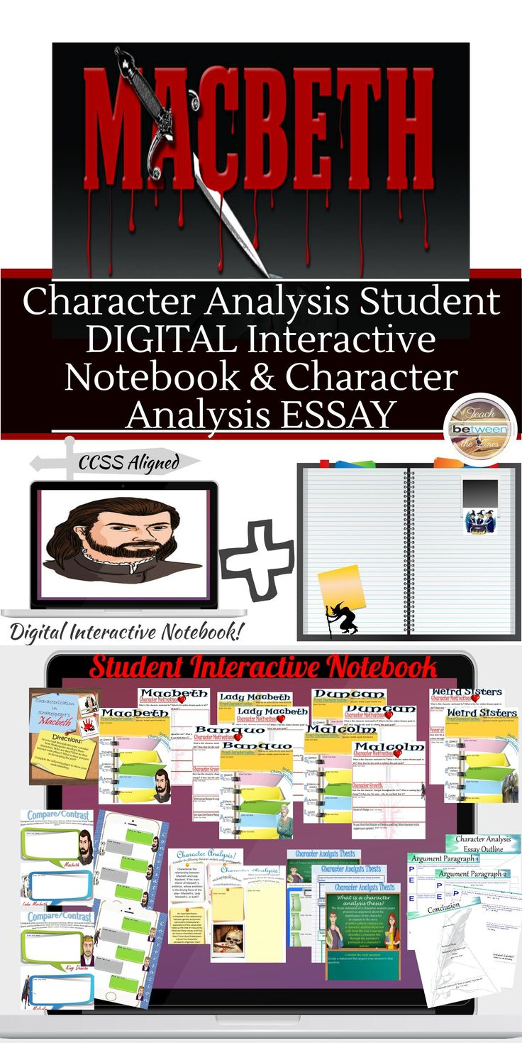 17 best ideas about macbeth analysis shakespeare shakespeare s macbeth character analysis digital and printable