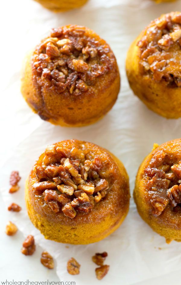 Check out Sticky Pecan Upside-Down Pumpkin Muffins. It's so easy to ...