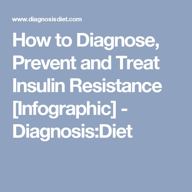 How to Diagnose, Prevent and Treat Insulin Resistance [Infographic] - Diagnosis:Diet