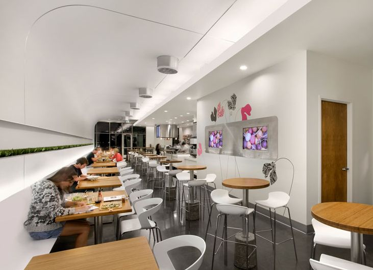 Four important matters to build good fast food restaurants elegant white fast food interior Kitchen design for fast food restaurant