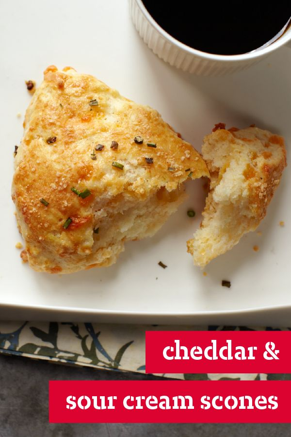 Feta And Chive Sour Cream Scones Recipe — Dishmaps