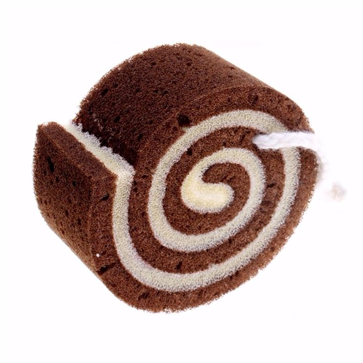 Chocolate Roll Cake Shower Bubble Bath Sponge Towel Cloth #Unbranded