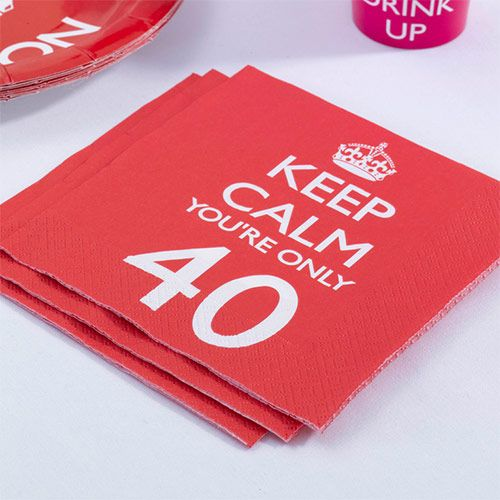 Party Ark's 'Keep Calm & Party 40th Birthday Napkins'