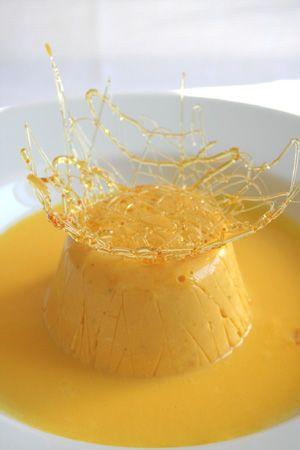 Bavarese di cachi salsa alla vaniglia