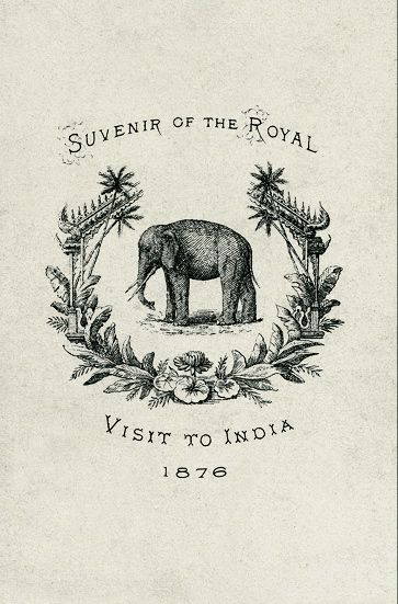 Elephant!Logo, Vintage Ephemera, Inspiration, India Elephant, Remembrances, Vintage Prints, Graphics Design, Indian Elephant Illustration, Royal Visit