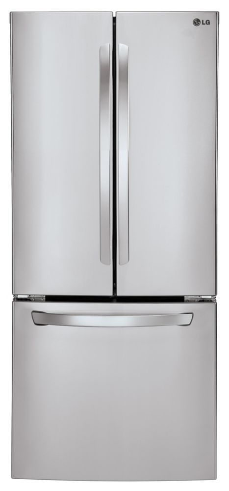 22 cu. ft. French Door Refrigerator with Smart Cooling System in Stainless Steel