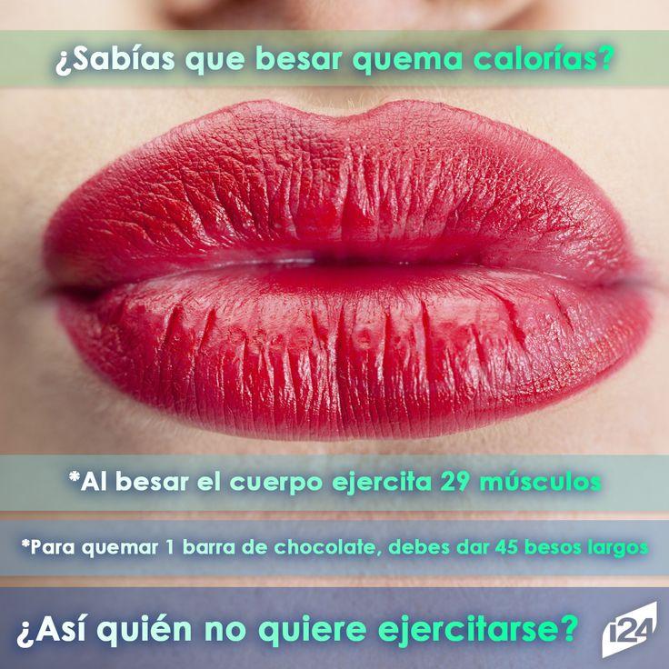 Ejercitate con tu pareja, eso fortalece la relación #Kiss #Besos #Love #Calorias