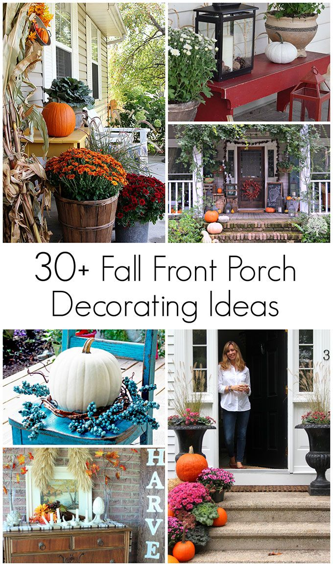 Tons of outdoor fall decorating ideas and inspiration to cozy up your  porch, patio or deck for the autumn season. - Cute Fall Decorations For Outside Fall Ideas Pinterest Fall